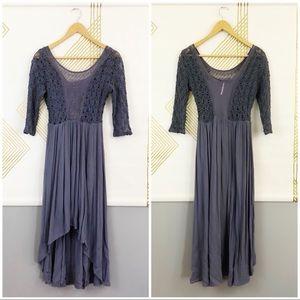 Free People Lavender Lace Midi Dress. Size 4